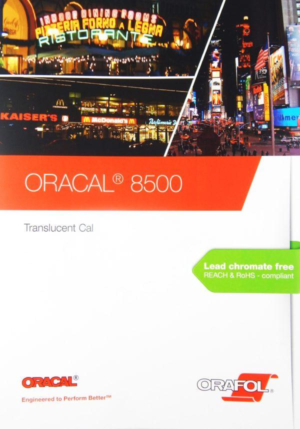 Wzornik folii Oracal seria 8500 - okładka
